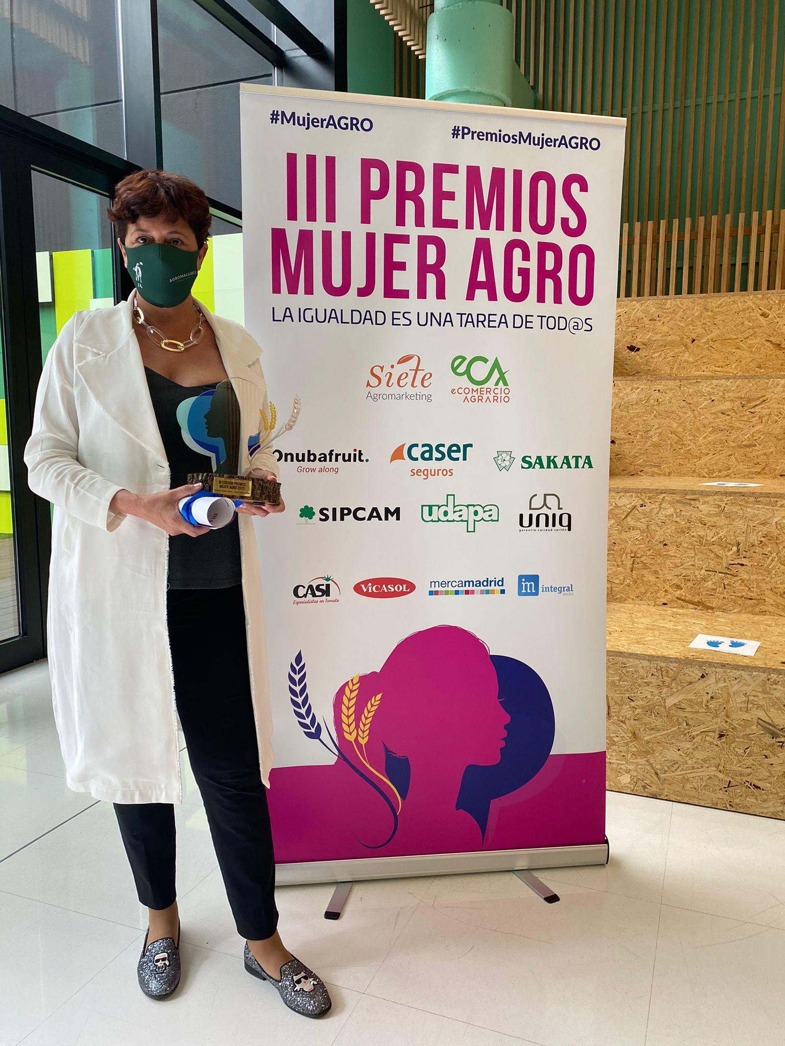 Isabel Vicens gana el premio Mujer Agro Emprendimiento